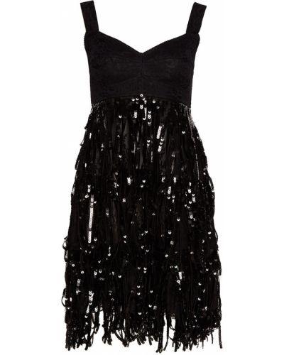 Платье мини с бахромой коктейльное Dolce&gabbana