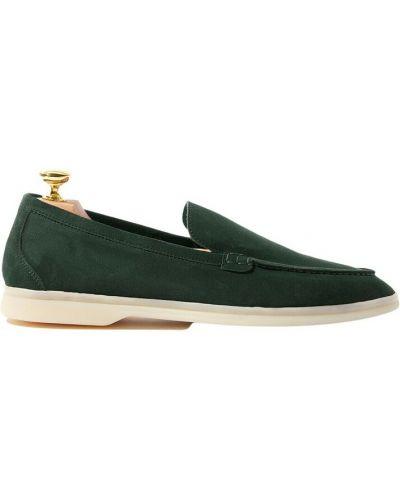 Zielone loafers Scarosso