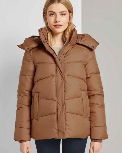 Утепленная коричневая куртка Tom Tailor