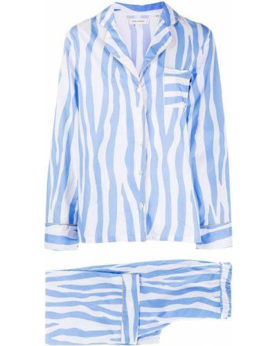 Синяя свободная пижама свободного кроя на пуговицах Chinti & Parker