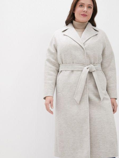 Бежевое пальто с капюшоном Samos Fashion Group