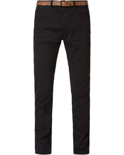 Bawełna bawełna czarny chinosy z kieszeniami Tom Tailor Denim