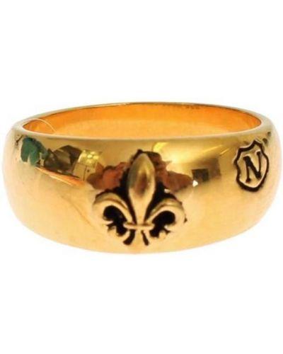 Żółty złoty pierścionek Nialaya