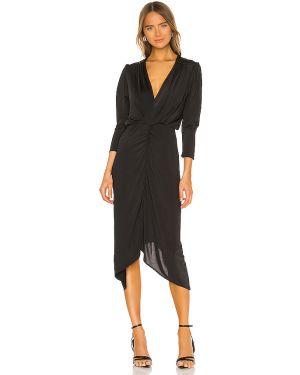 Czarna sukienka z falbanami Hah