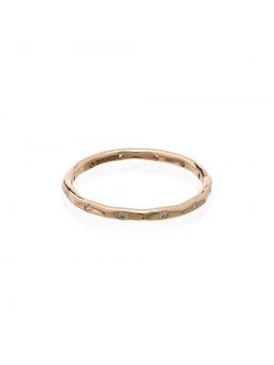 Золотистое кольцо золотое с бриллиантом Melissa Joy Manning
