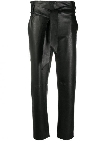 Черные с завышенной талией брюки дудочки с карманами D.exterior