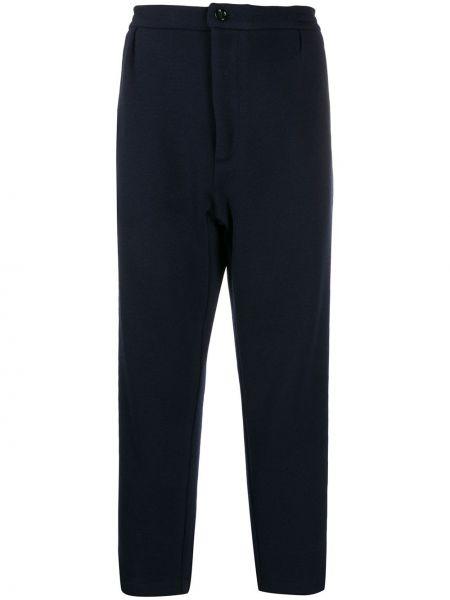 Niebieskie spodnie z wysokim stanem wełniane Lc23