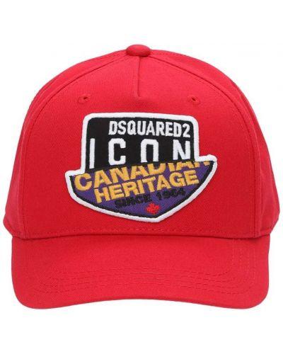 Bawełna bawełna kapelusz z łatami Dsquared2