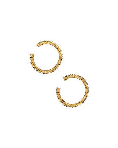 Маникюрный набор металлический позолоченный с манжетами золотой Baublebar