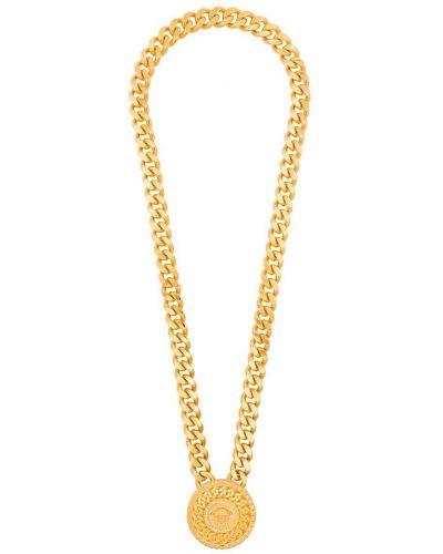 Золотистая цепочка золотая с декоративной отделкой Versace