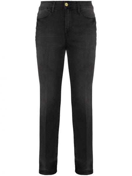 Прямые хлопковые серые прямые джинсы Frame