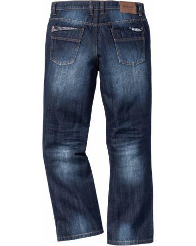 Темно-синие расклешенные джинсы из вискозы Bonprix