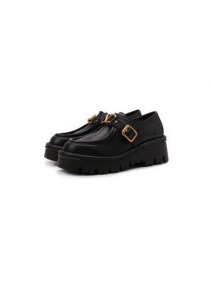 Черные кожаные лоферы Valentino