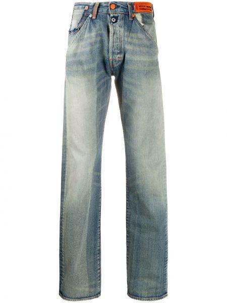 Синие прямые джинсы классические с карманами Heron Preston