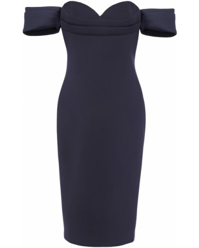 Текстильное платье с драпировкой на крючках Badgley Mischka