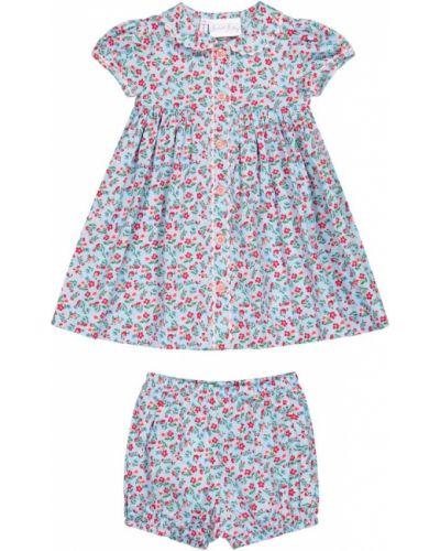 Niebieska sukienka mini bawełniana Rachel Riley