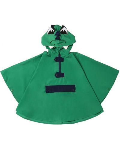 Zielona narzutka z kapturem z nylonu Stella Mccartney Kids