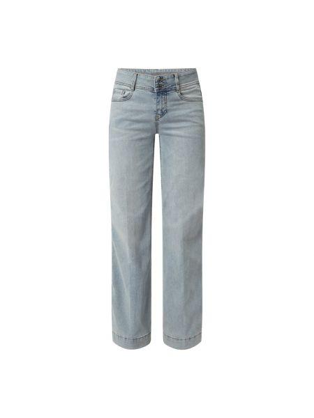 Niebieskie mom jeans zapinane na guziki Taifun
