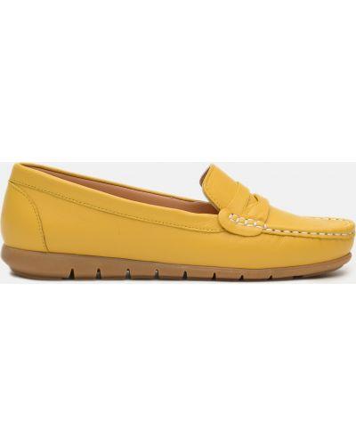 Желтые кожаные мокасины Altura