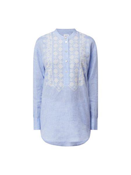 Bluzka z haftem - niebieska Seidensticker