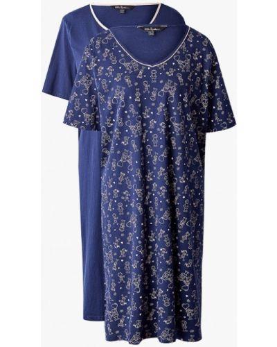 Платье осеннее синее Ulla Popken
