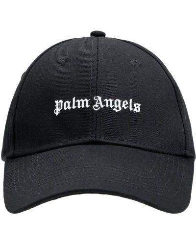 Czarna czapka z haftem Palm Angels