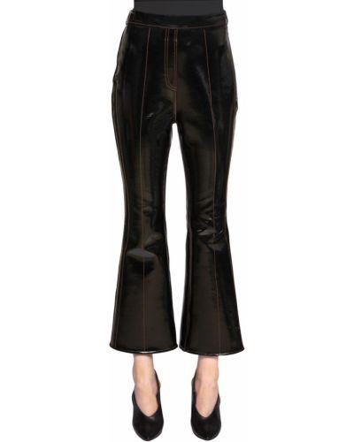 Czarne spodnie z paskiem Ellery