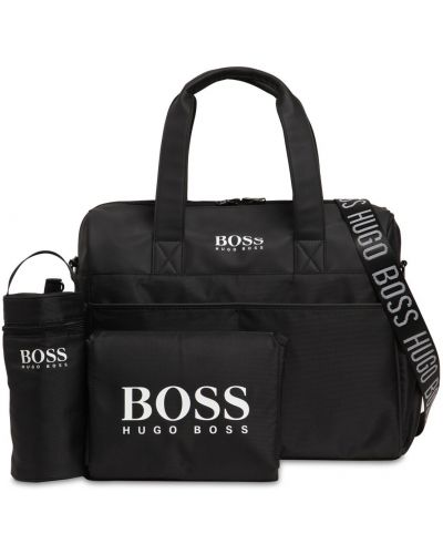 Czarna torebka z siateczką z nylonu Hugo Boss