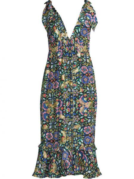 Шелковое платье - черное Nicole Miller