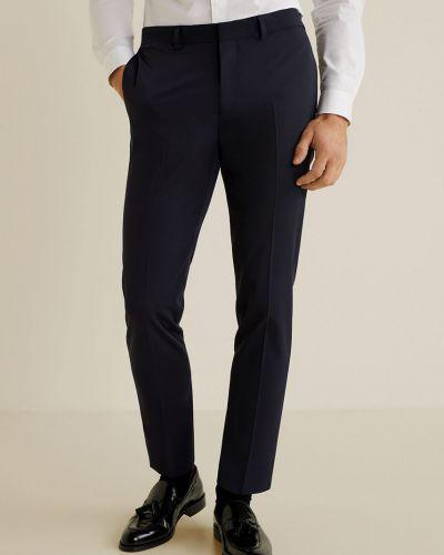 Spodnie wełniany prążkowany Mango Man