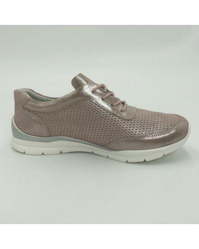 Кожаные кроссовки - розовые Gabis