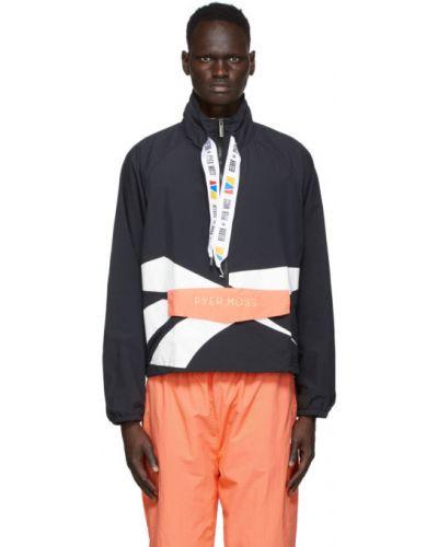 Белая нейлоновая длинная куртка с манжетами с вышивкой Reebok By Pyer Moss