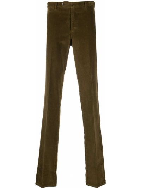 Prosto bawełna bawełna spodnie o prostym kroju z kieszeniami Pt01