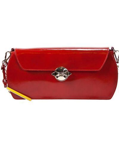 Клатч лаковый красный Cromia
