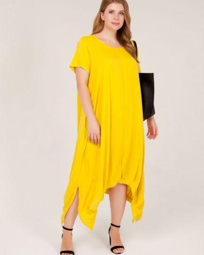 Свободное летнее платье в стиле бохо свободного кроя с вырезом Sparada
