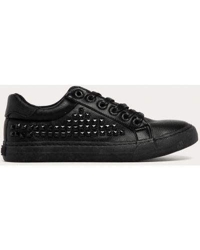 Ażurowe czarne sneakersy sznurowane Big Star