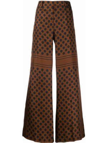 Свободные брюки в горошек с поясом Alberto Biani