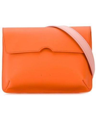 Оранжевая поясная сумка с помпоном Pb 0110