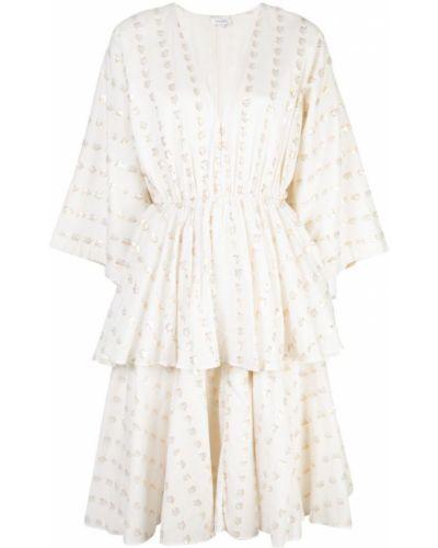 Платье миди с V-образным вырезом приталенное Rhode Resort