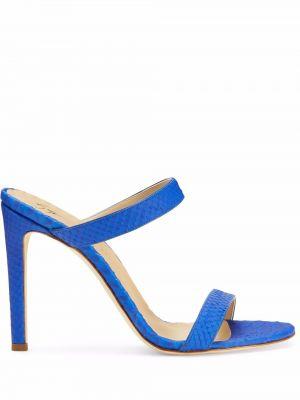 Синие кожаные трусы Giuseppe Zanotti