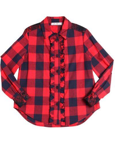 Рубашка в клетку - красная Miss Blumarine