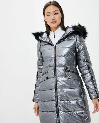 Серая теплая утепленная куртка B.style