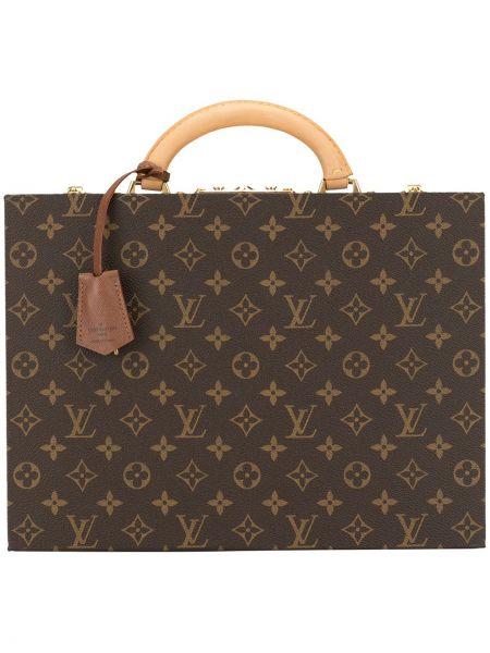 Etui na klucze skórzany brązowy Louis Vuitton Pre-owned
