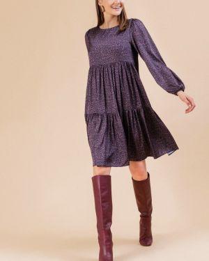 Платье миди платье-свитер со складками Emka