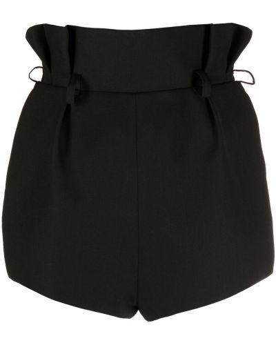 Шерстяные черные с завышенной талией шорты Alexandre Vauthier