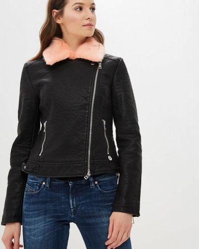 Кожаная куртка осенняя черная Met