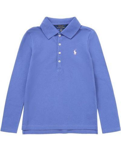 Синее поло с логотипом Polo Ralph Lauren