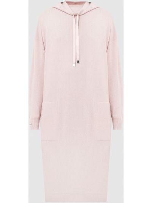 Шелковое платье миди - розовое Peserico