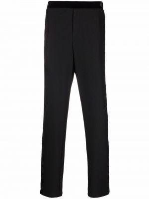 Czarne spodnie bawełniane Giorgio Armani