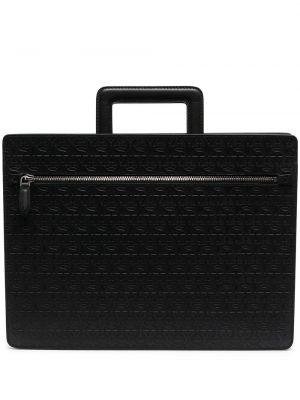 Czarny skórzany torba kosmetyczna z kieszeniami Salvatore Ferragamo
